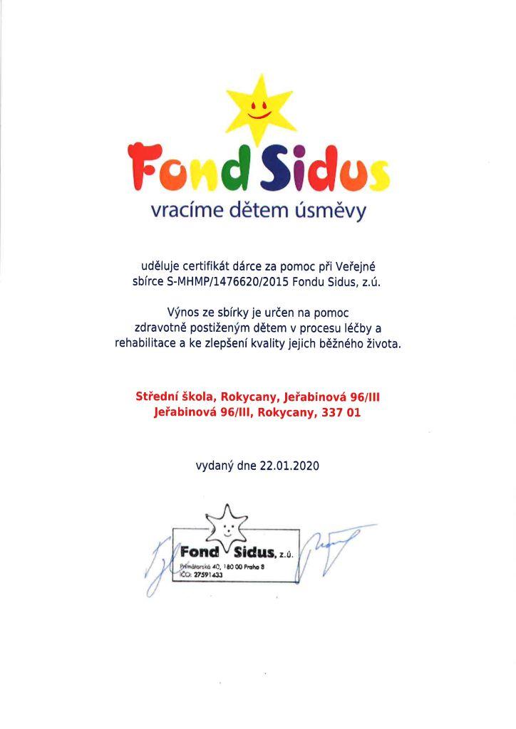 Fond Sidus - vracíme dětem úsměvy