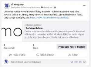 """Info o kurzu """"Focení mobilem""""."""